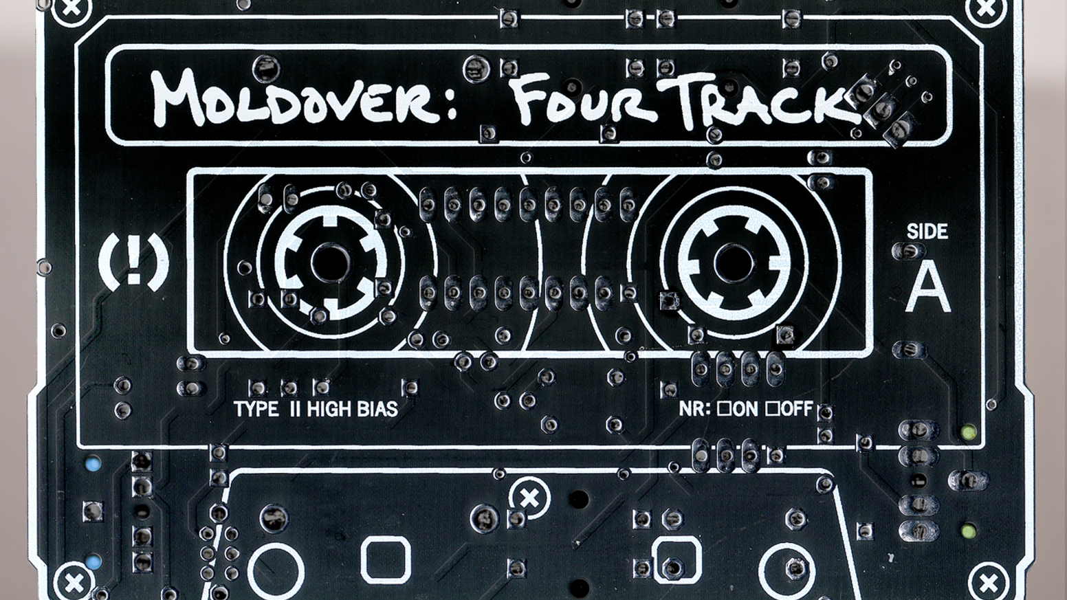 Musician, artist, and inventor MOLDOVER presents a new original album packaged in a playable circuit board instrument!