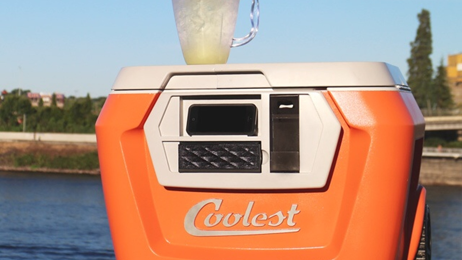 The COOLEST is a portable party disguised as a cooler, bringing blended drinks, music and fun to any outdoor occasion.