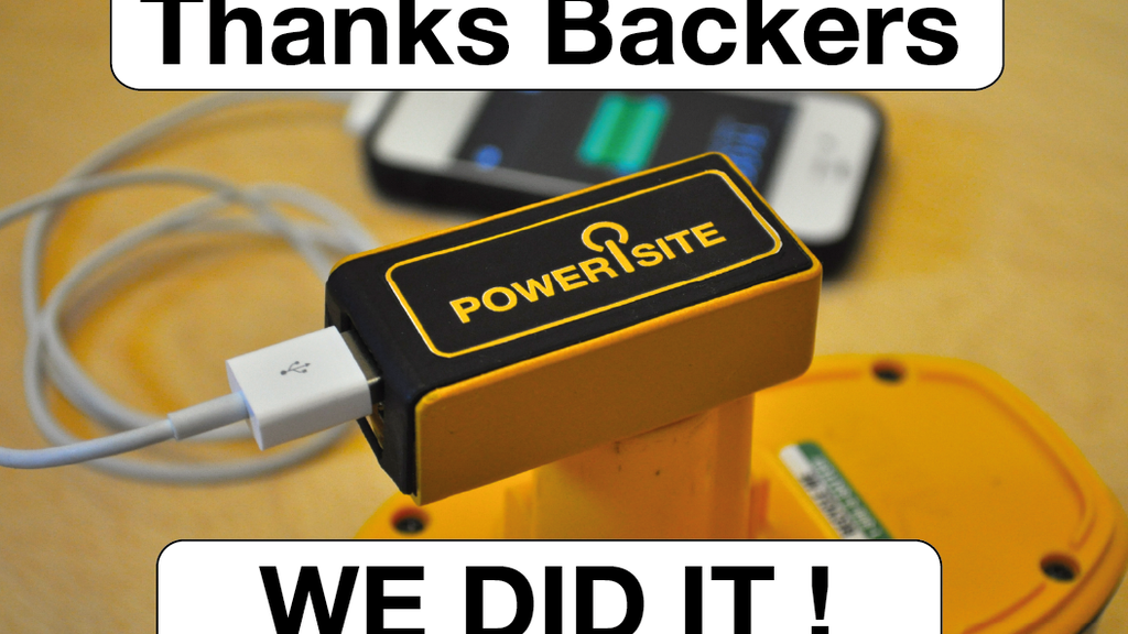 PoweriSite USB power from your cordless tool batteries. project video thumbnail