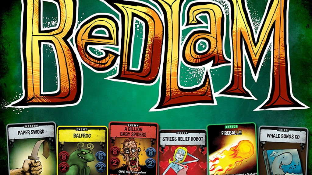 Bedlam - a thoroughly uncooperative card game project video thumbnail