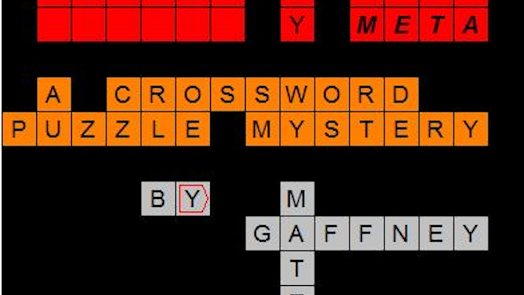 Murder by Meta -- A Crossword Puzzle Mystery project video thumbnail