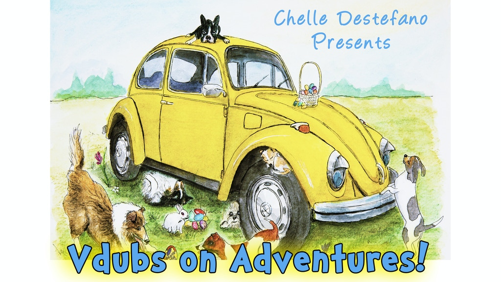 Adventures of a Vdub Bug illustrated Art book project video thumbnail