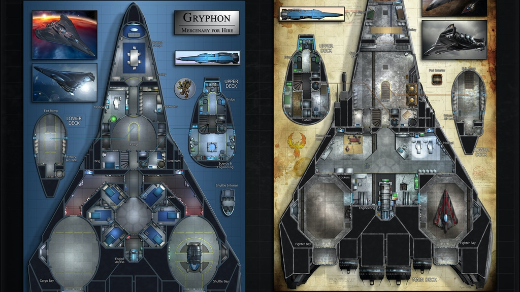 Gryphon: Starship Map & Miniature project video thumbnail
