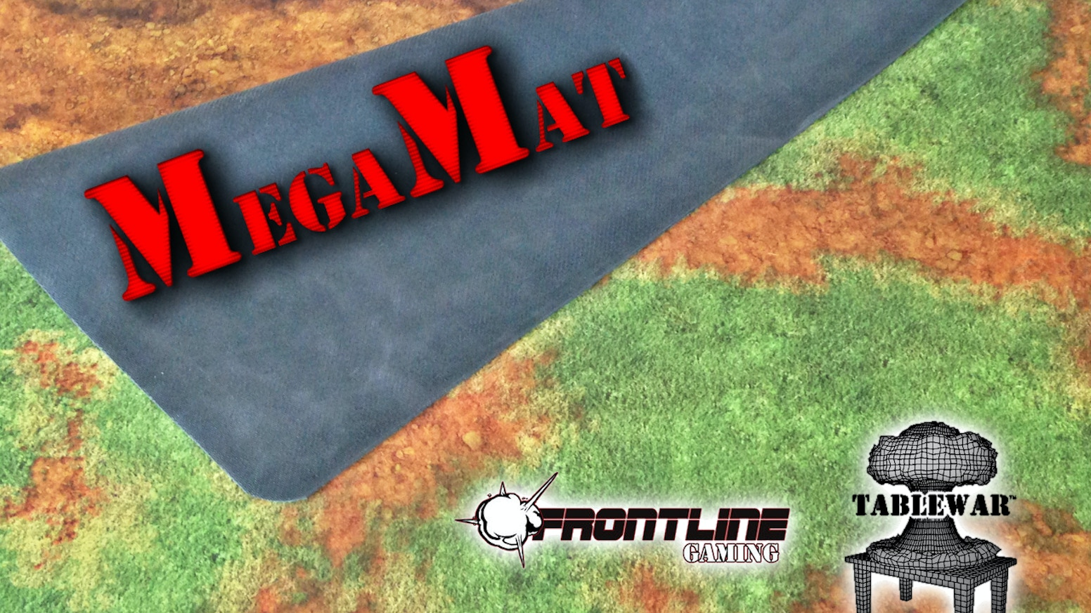 """TABLEWAR™ now has over 40 F.A.T. Mat designs across6x4', 4x4', 3x3', & 30x30"""" sizes. A seriesof themed tabletop gaming mats for miniature war gaming."""