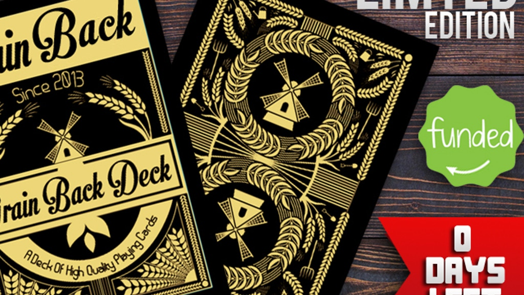 The Grain Back Playing Cards Limted Edition - Posters Left! project video thumbnail