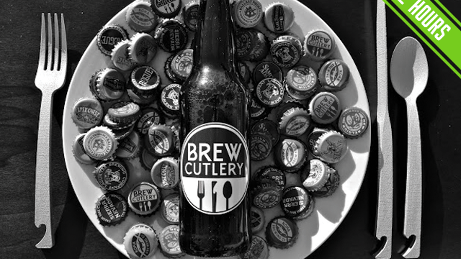 Brew Cutlery infuses the two of the finest pleasures in life: BEER & FOOD. A perfect bottle opener integrated into each piece of cutlery.
