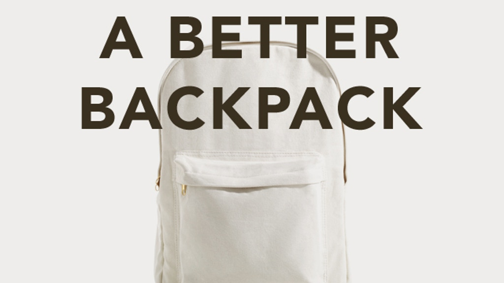 A Better Backpack: Sustainable Design - Sustainable Future project video thumbnail