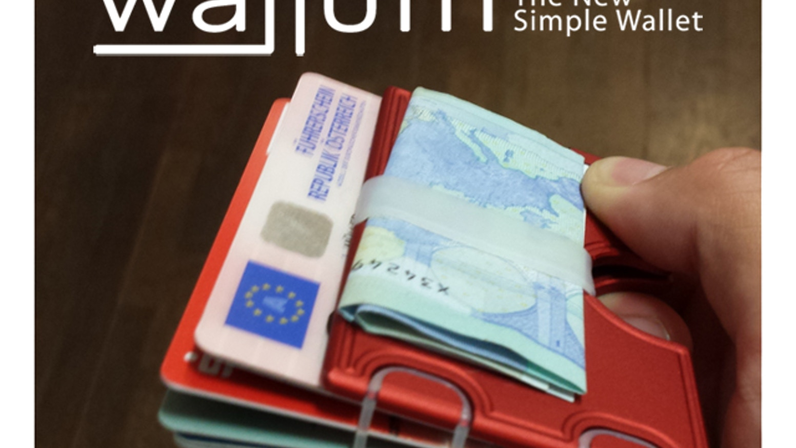 The new simple wallet out of high resistance aluminium designed for your day-to-day life. Made in Austria & Germany.
