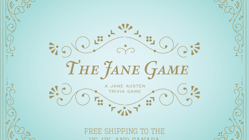 The Jane Game: A Jane Austen Trivia Board Game project video thumbnail