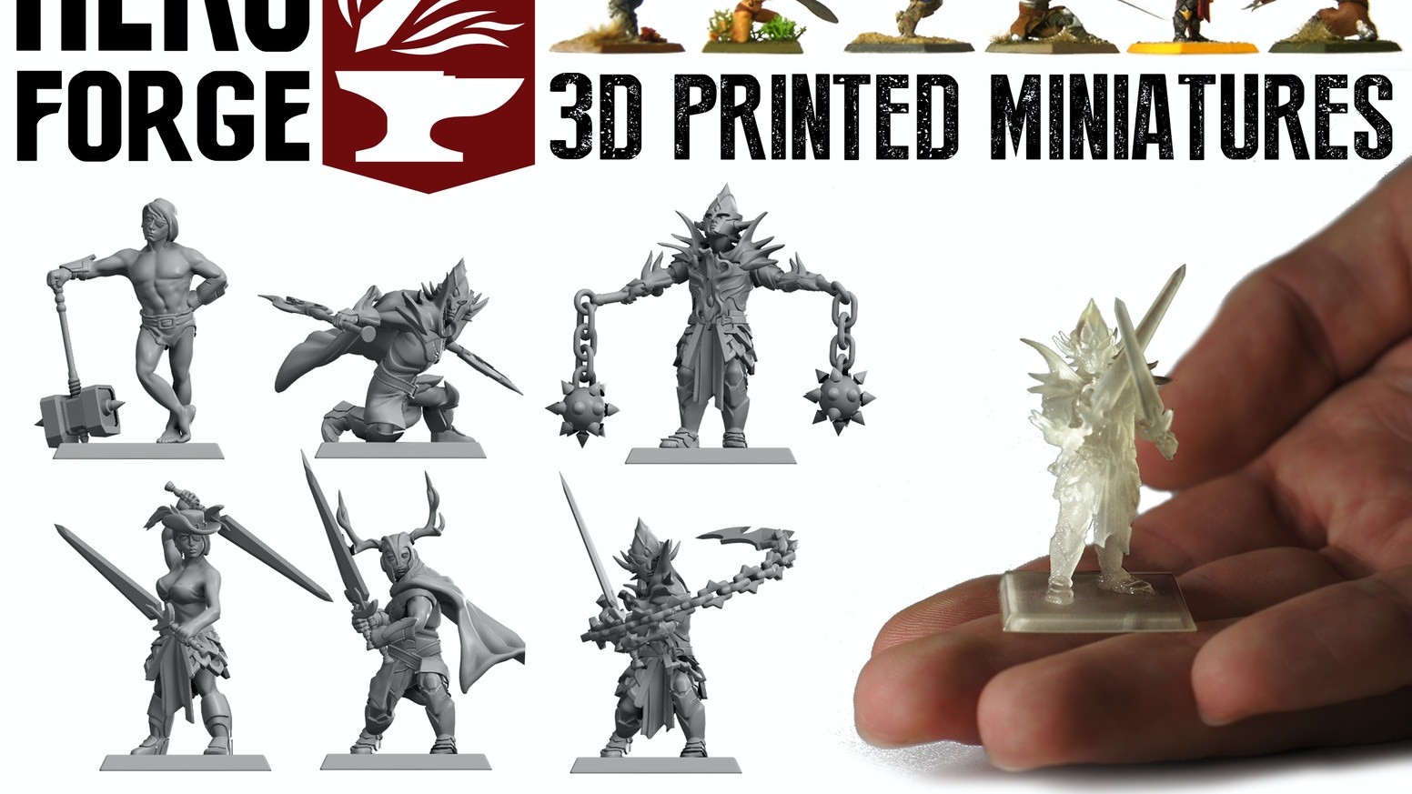 Customizable 3D Printed Tabletop Miniatures by Hero Forge