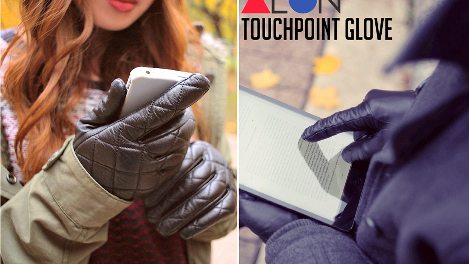 The Touchpoint Glove, a premium leather glove offering complete control of all touchscreen devices seamlessly and stylishly. Everytime.