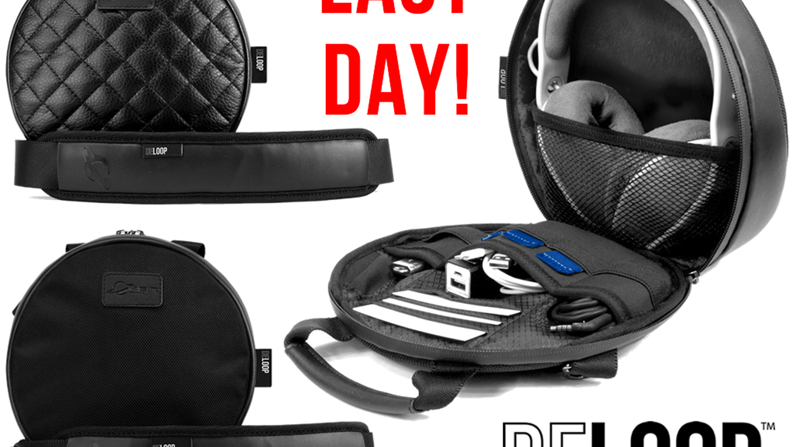 THE ALL IN ONE HEADPHONE BAG! A stylish compact case that also carries accessories, smartphones, mobile devices, USB/SD media, and more