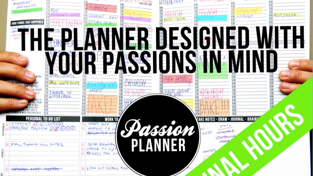 Passion Planner: Start Focusing on What Really Matters project video thumbnail