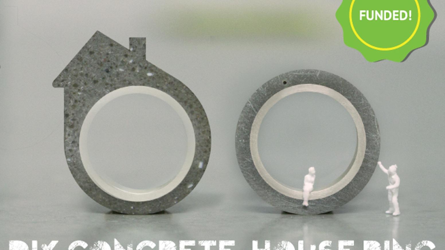 Crayon Rings The Diy Concrete House Ring By Linda Bennett Kickstarter