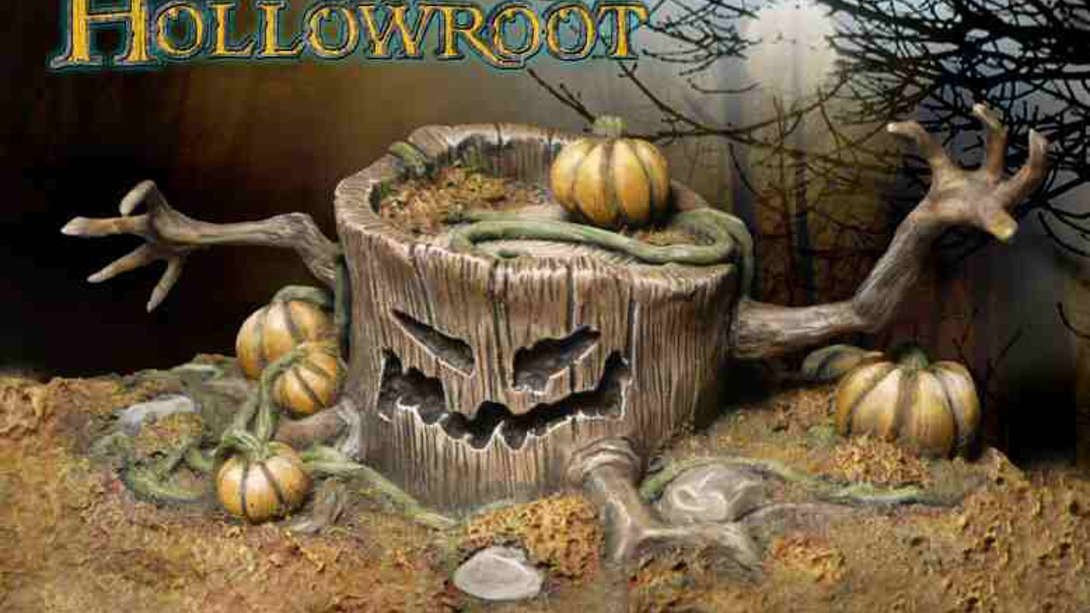 haunted tree stump a halloween fantasy collectible statue
