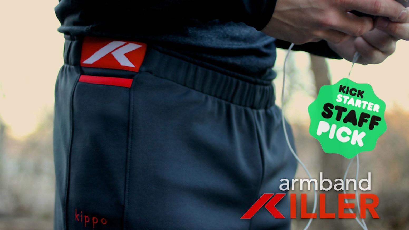 Kippo shorts secure your phone and make it easy to grab.