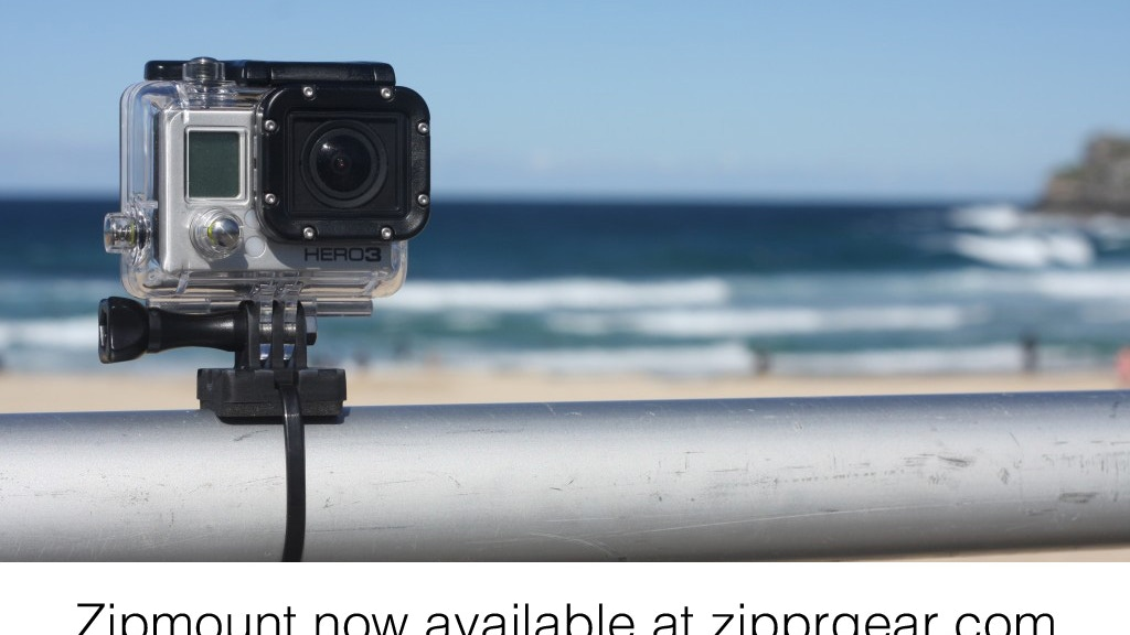 Zipmount. A Simple GoPro Mounting Solution. project video thumbnail
