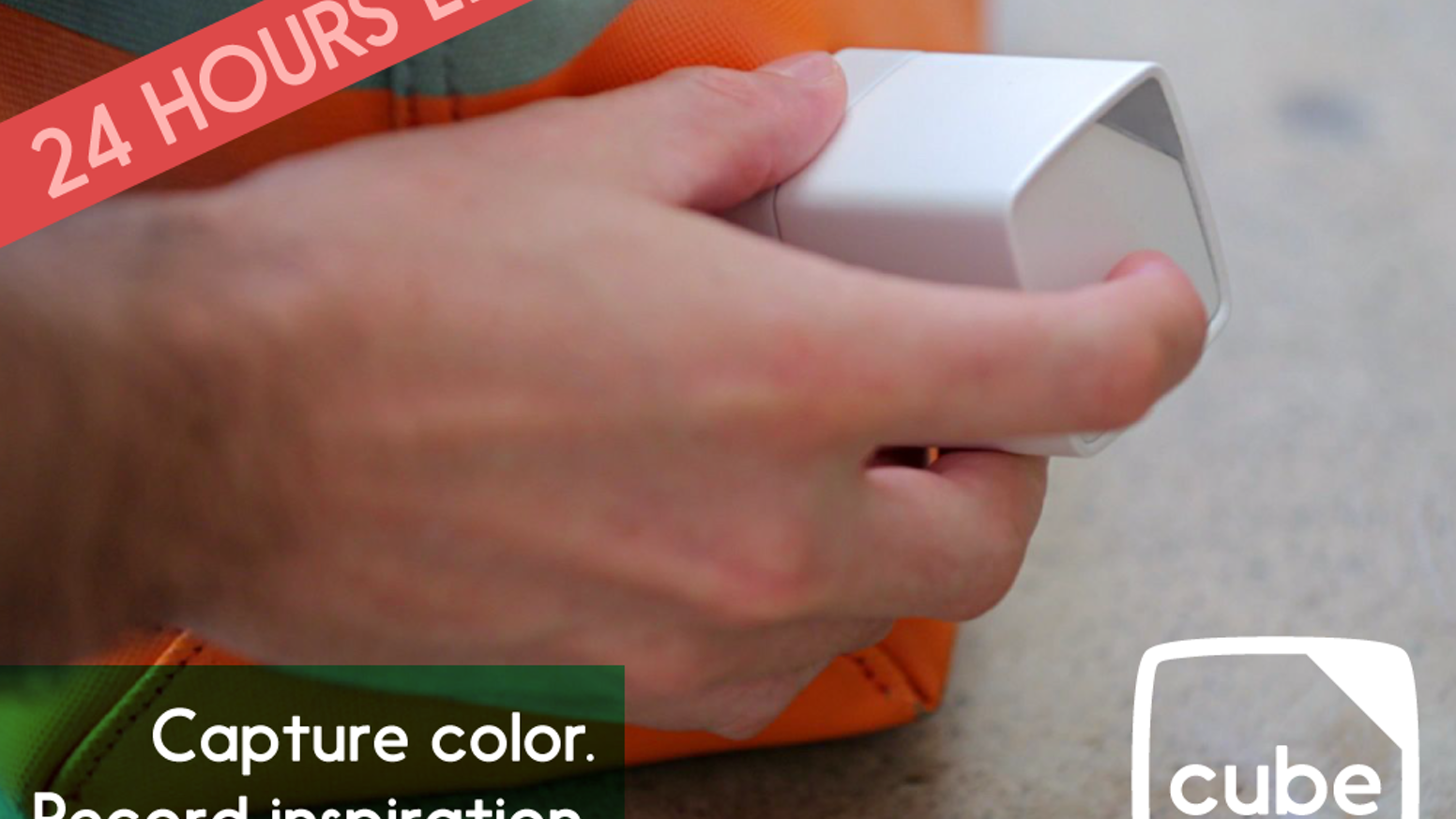 Cube fits in your hand and with one tap captures any color on any surface.