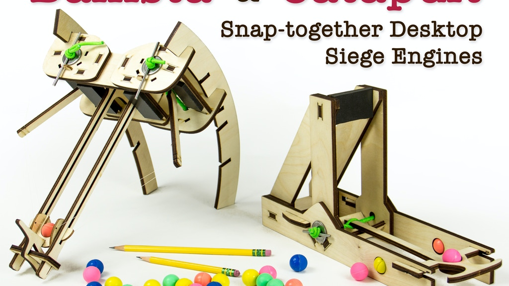 Siege Toys: Desktop Catapults & Ballistas project video thumbnail