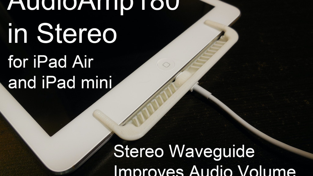 iPad Air & iPad mini Stereo Speaker Audio Enhancer & Amp project video thumbnail