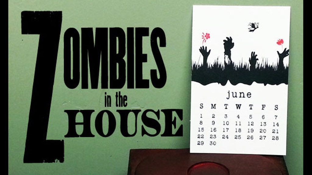 Zombies in the House - 2014 Letterpress Calendar project video thumbnail