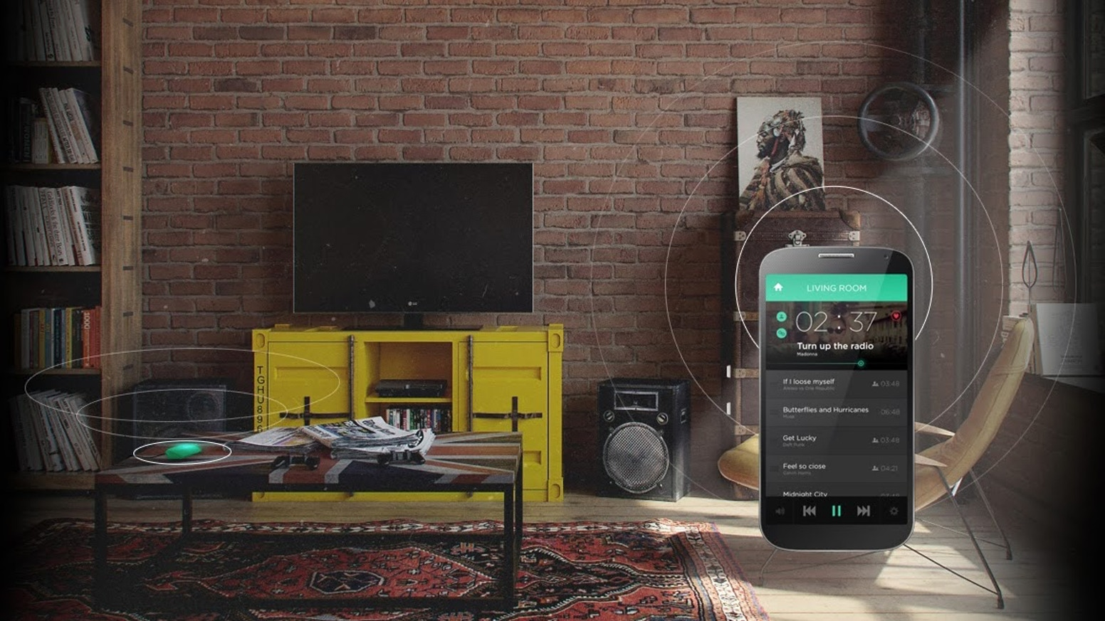 Free Your Music - From Every Phone, To All Speakers, For Everyone. ROCKI Wifi Music System, Multi-room, Multi-User, Multi-Speakers