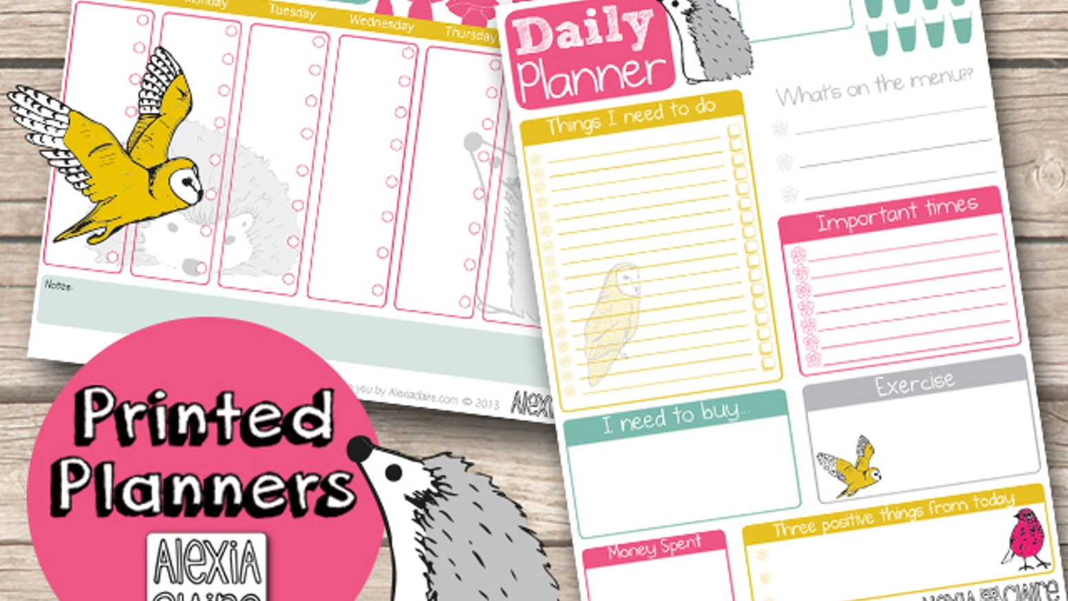 desk planner pads to plan your week in style by alexia claire