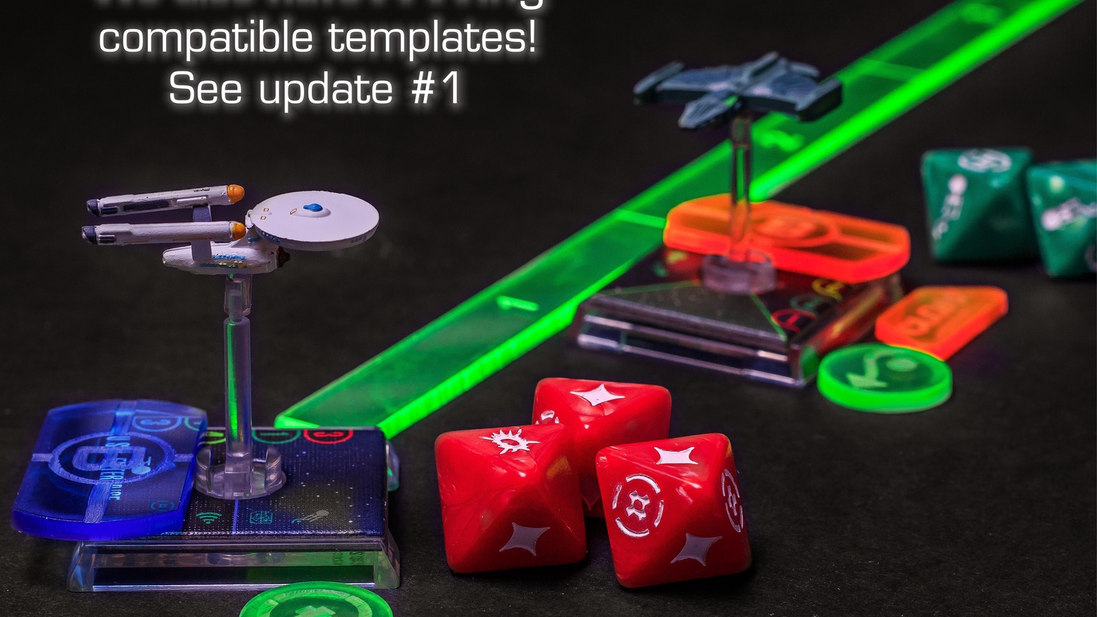 x wing and attack wing compatible movement template tokens by daft