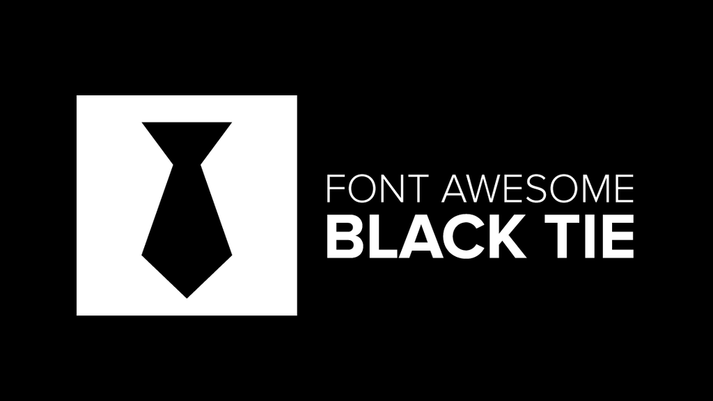 Black Tie, the new multi-weight icon font from Font Awesome project video thumbnail