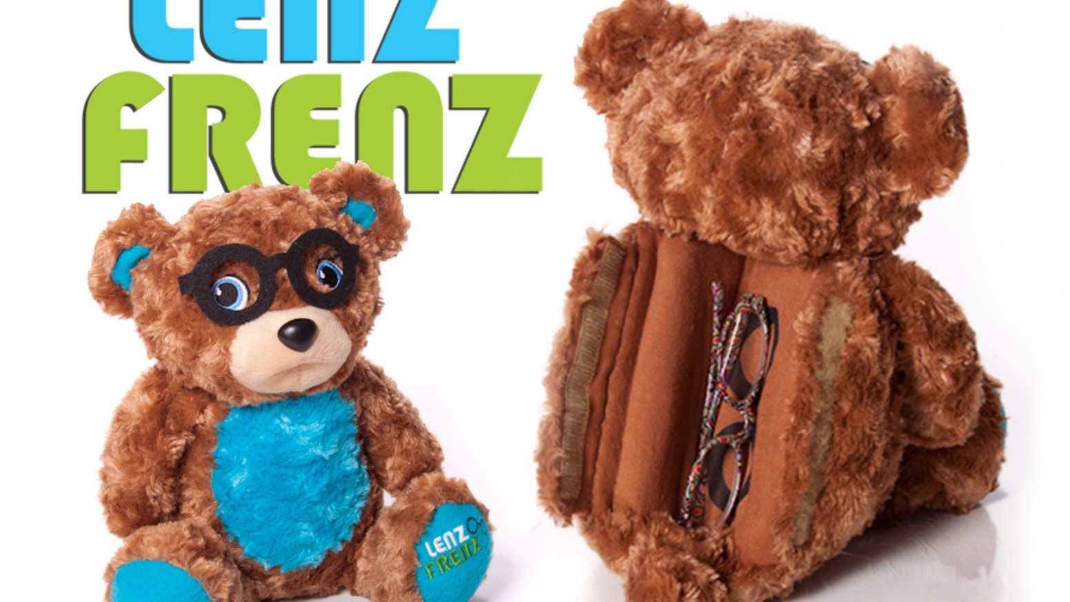 009526089f0 Lenz Frenz is a plush animal that securely stores and wears eyeglasses on  its face and inside its protective belly case.
