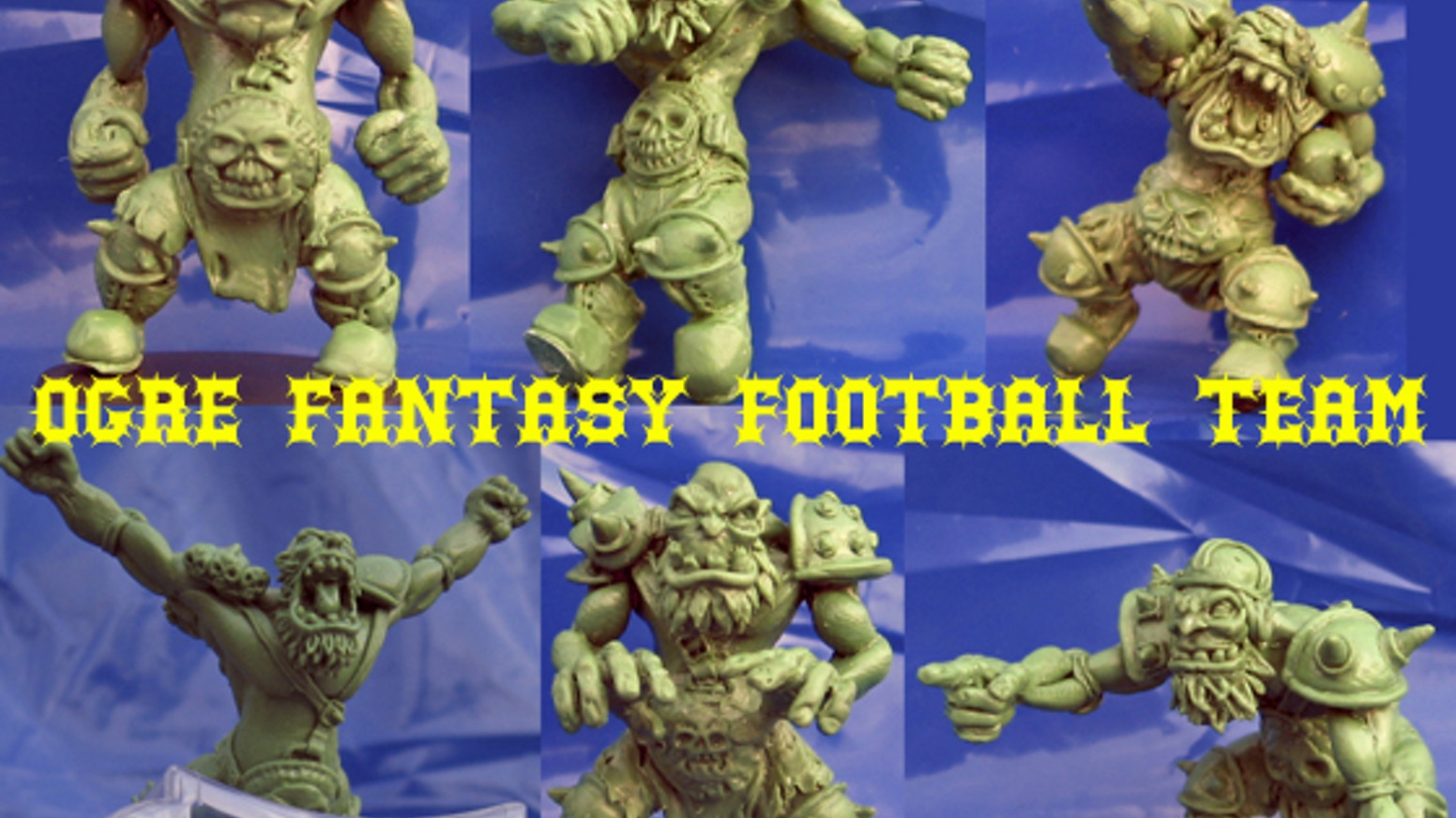 Brand new old school sized Ogres and Imps for your fantasy football board games.