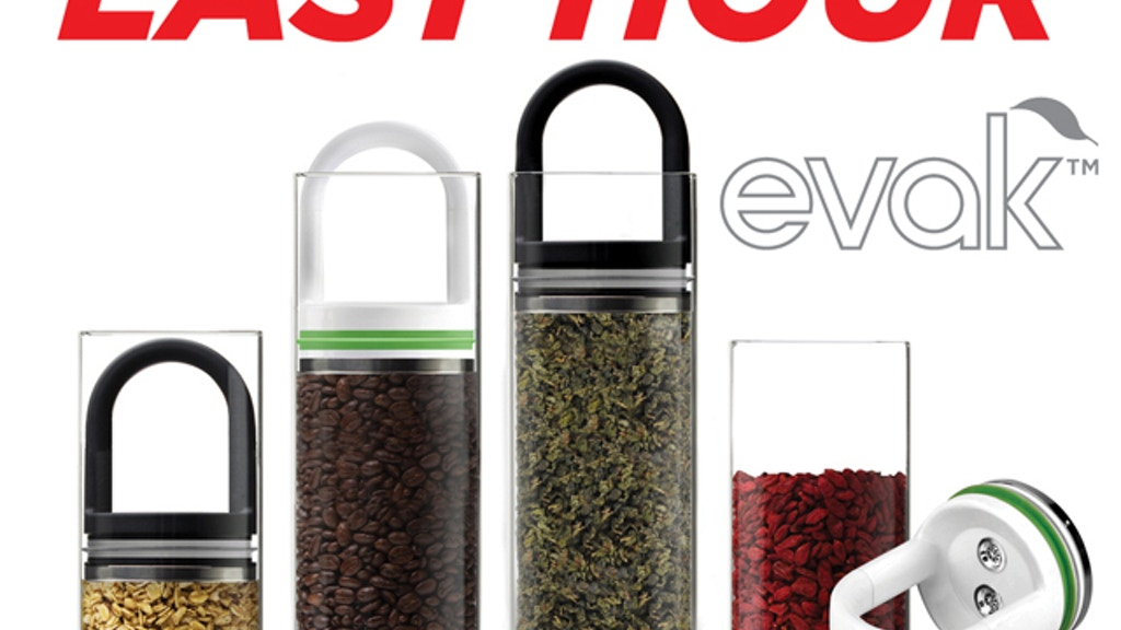 """EVAK- """"Food in, Air out"""" Glass Food Storage Container project video thumbnail"""