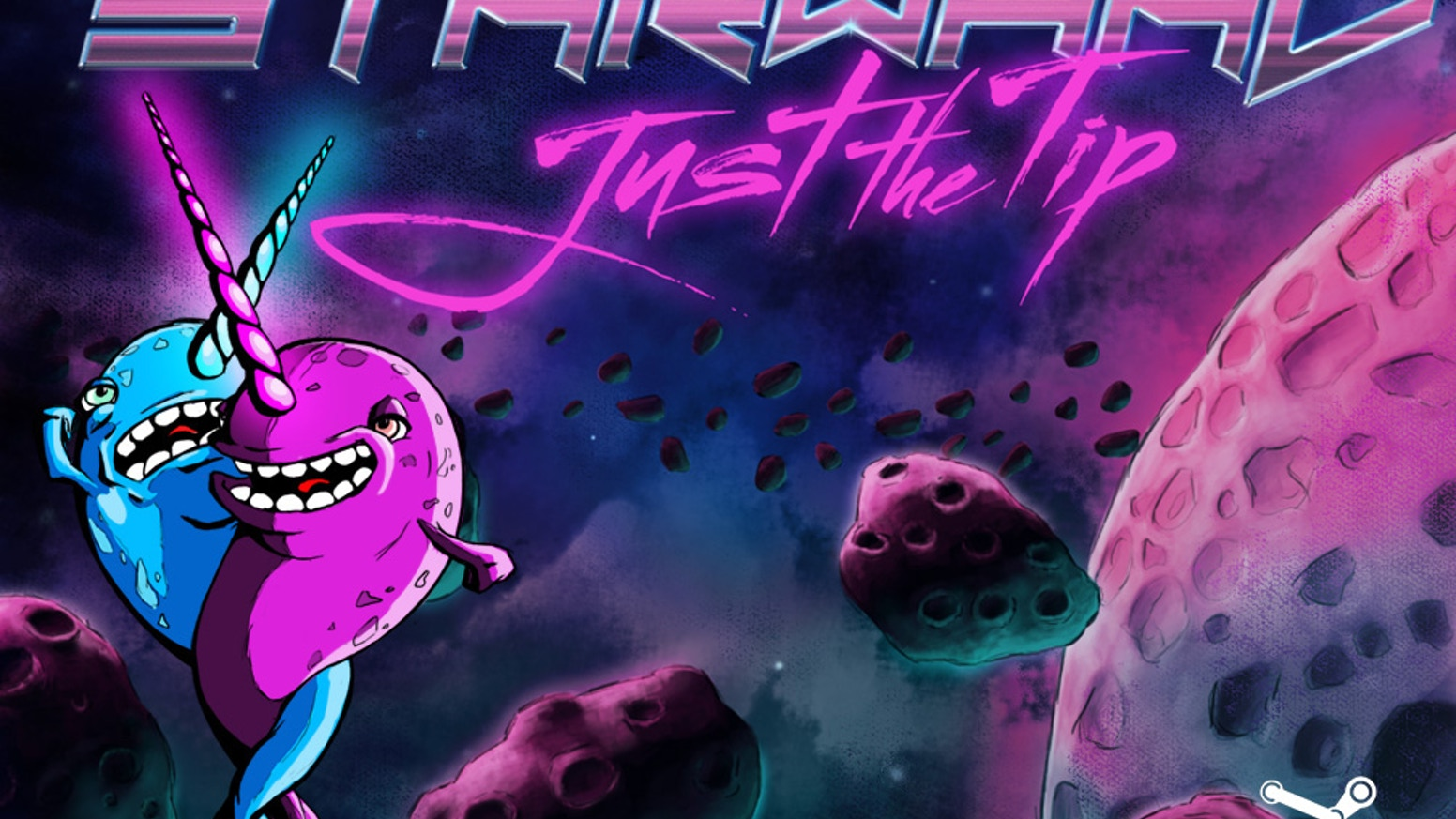 Retro, epic narwhal battle in space! The heart-piercing action is furious and unrelenting. STARWHAL will change your life.