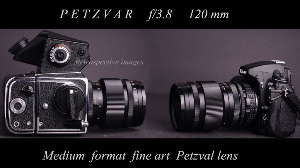 The Petzvar f/3.8 120 mm Medium Format Petzval portrait lens project video thumbnail