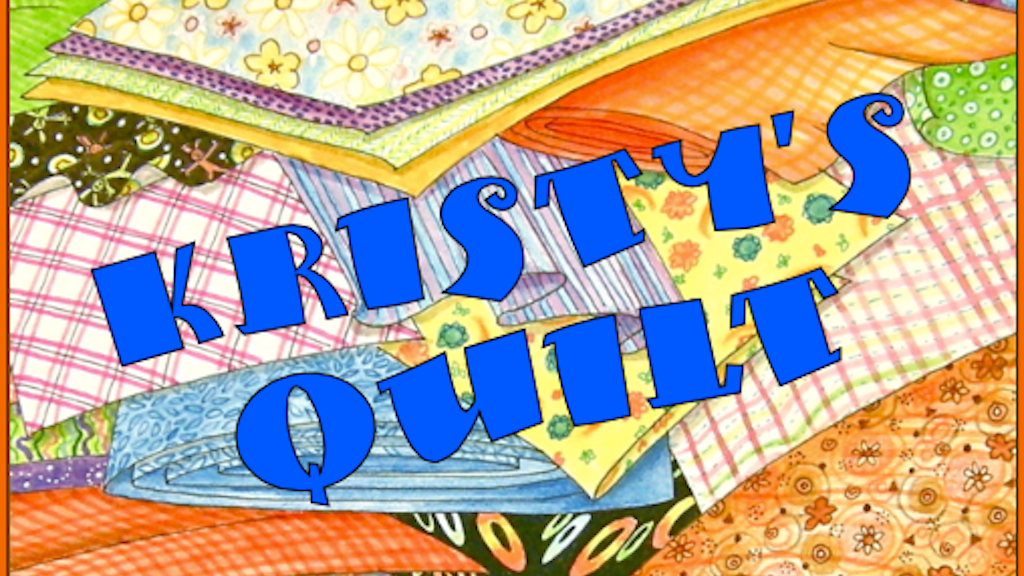A spunky little quilter blossoms in Kristy's Quilt project video thumbnail