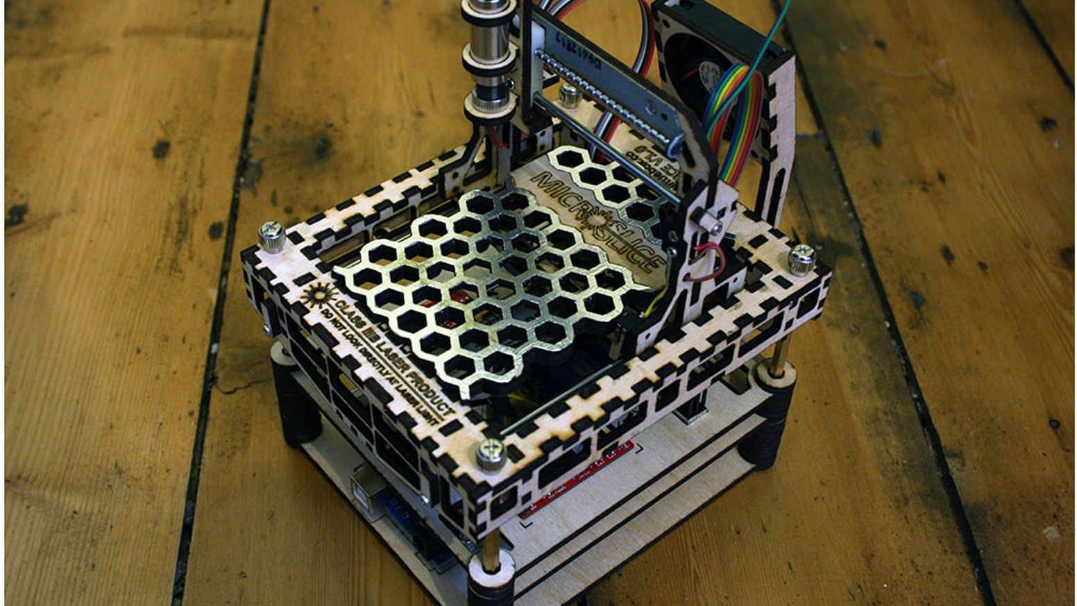 The MicroSlice | A Mini Arduino Laser Cutter & Engraver  by Gregory