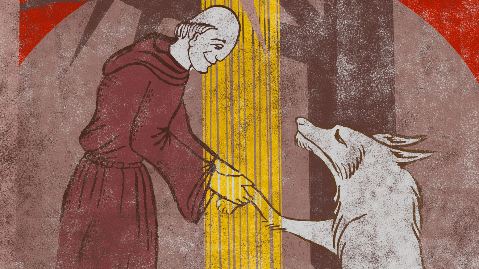 An imaginative retelling of the legend of St. Francis and the wolf, in which peace overcomes violence.