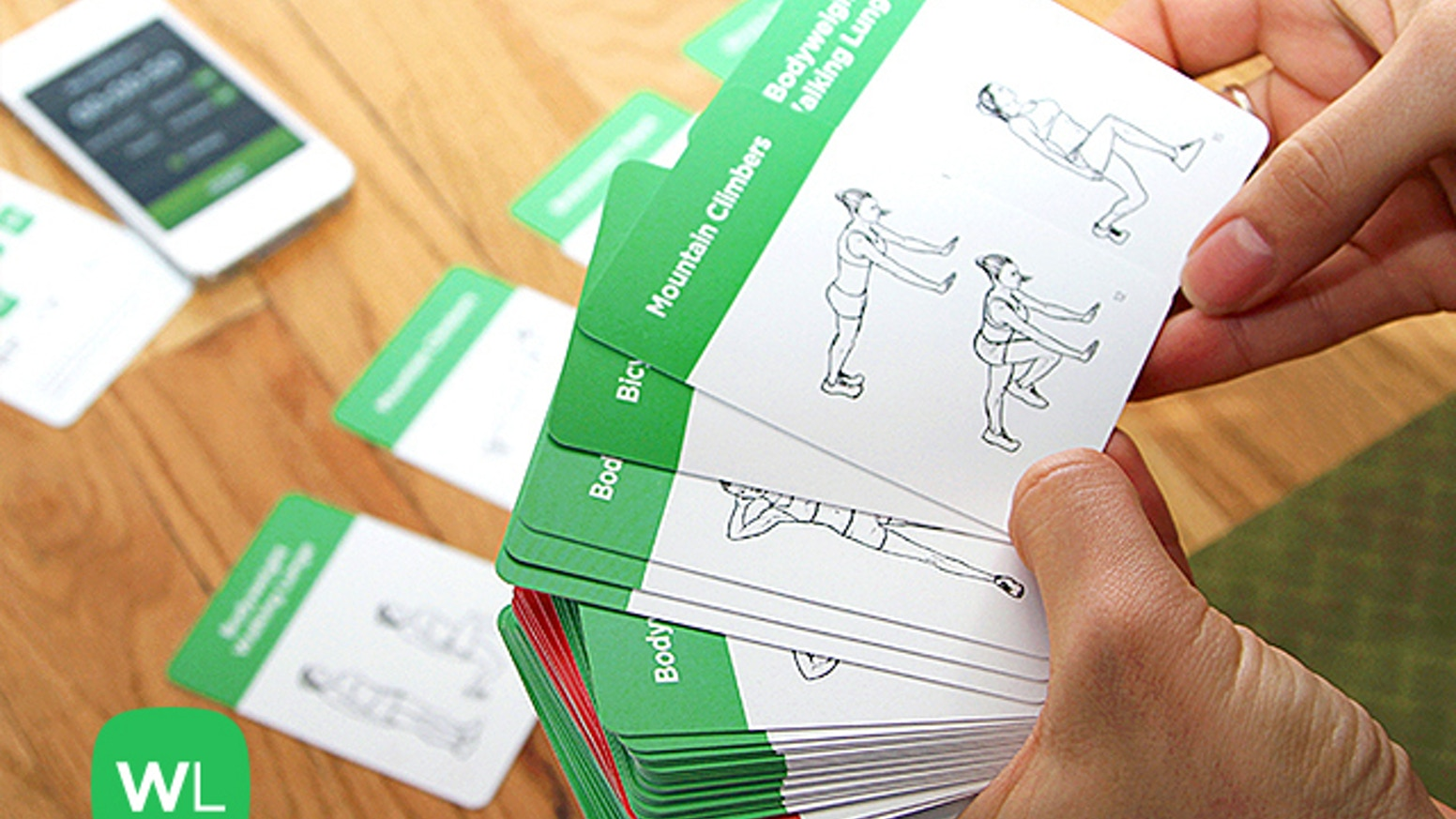 A beautifully-designed plastic cards deck, EXERCISE CARDS is a simple way to work out anywhere and anytime.