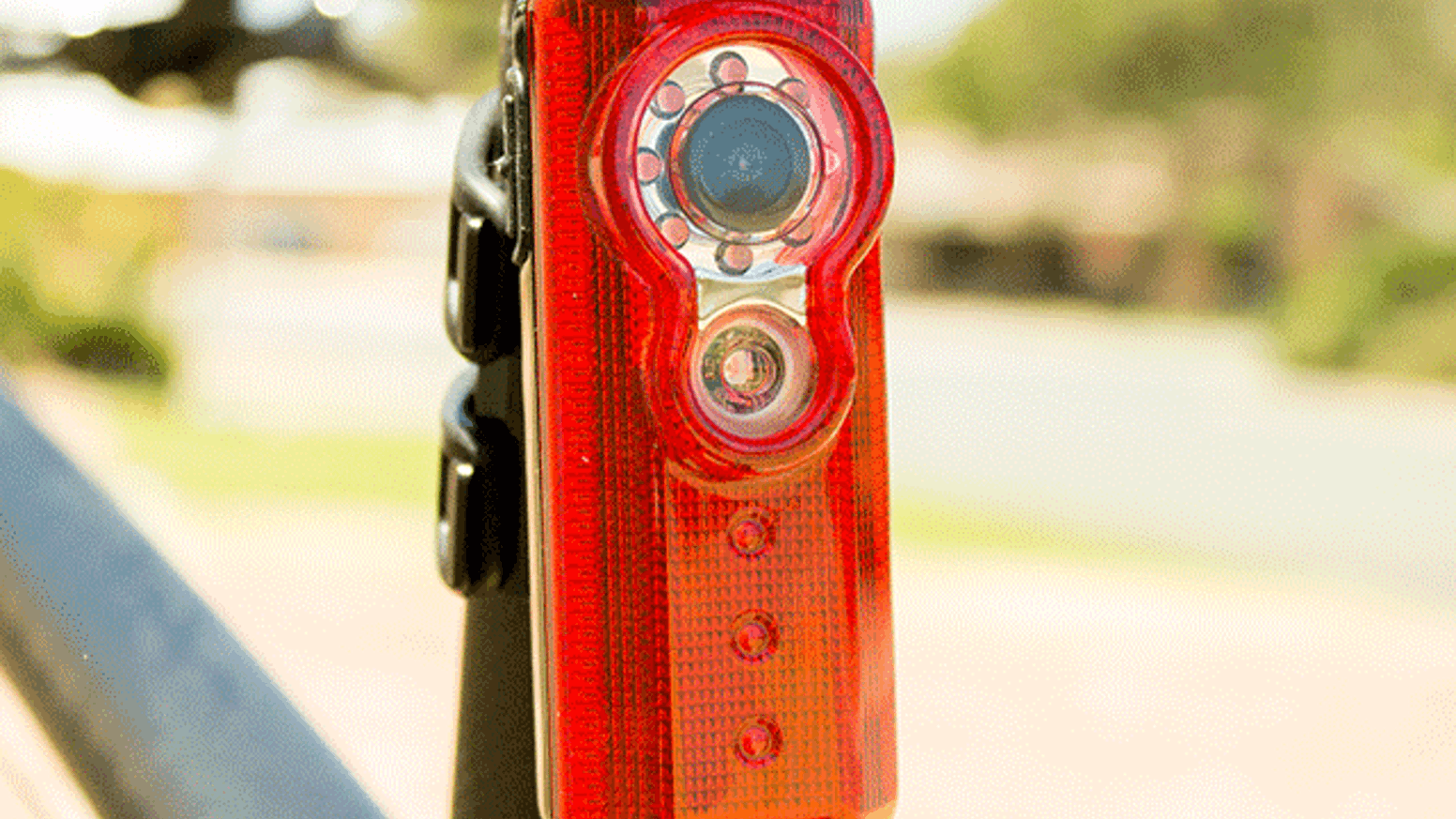 World first bike camera & tail-light accessory to record what happens behind you so you can enjoy the ride ahead.