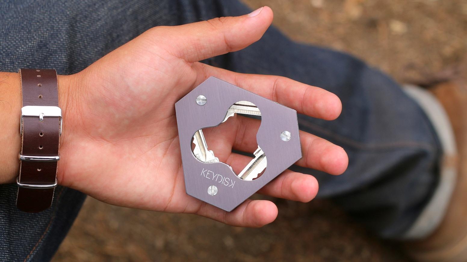 Sleek, lightweight build, & unintrusive all pocket fitting Key Holder