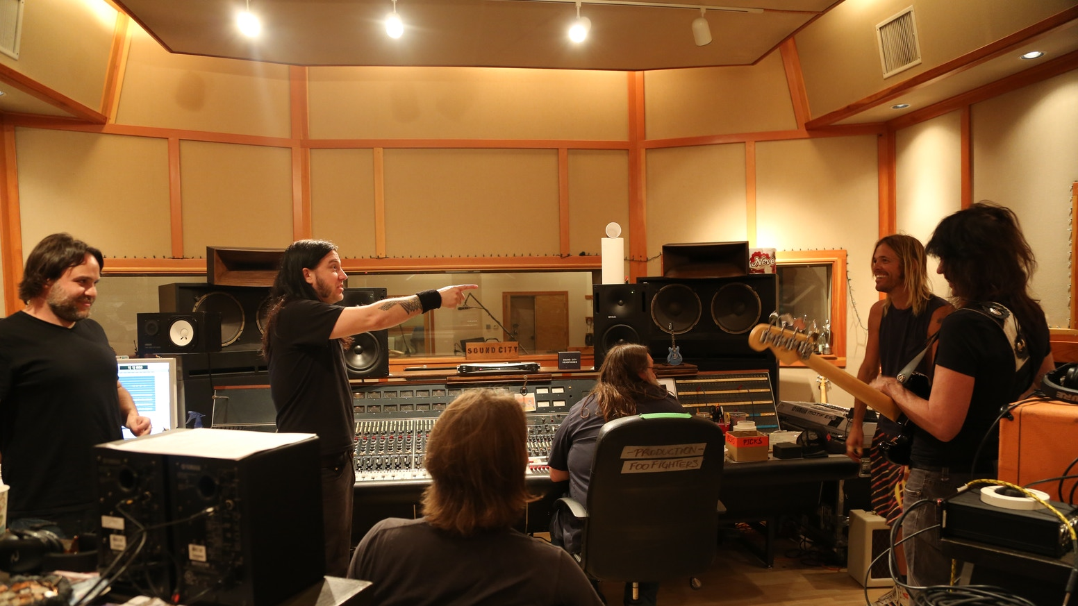 TJ had the opportunity to record 3 songs at the Foo Fighters' private studio - 606. You helped us finish the album!