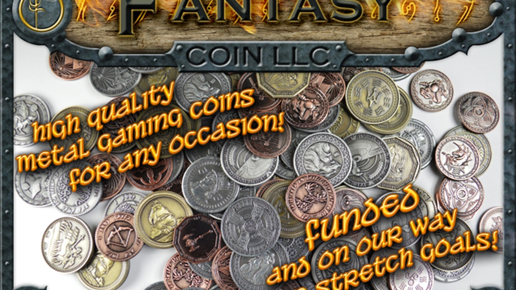 Fantasy Coins for Board Games, RPGs, LARP, or any occasion project video thumbnail