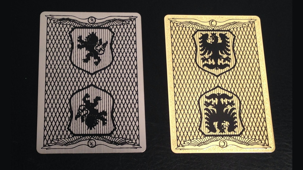Metal Playing Cards, Stainless Steel & Copper + Bicycle deck project video thumbnail