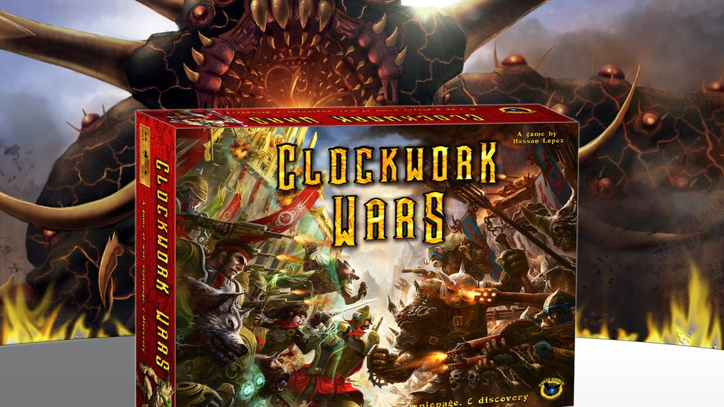 Clockwork Wars, a fantasy-steampunk war game project video thumbnail