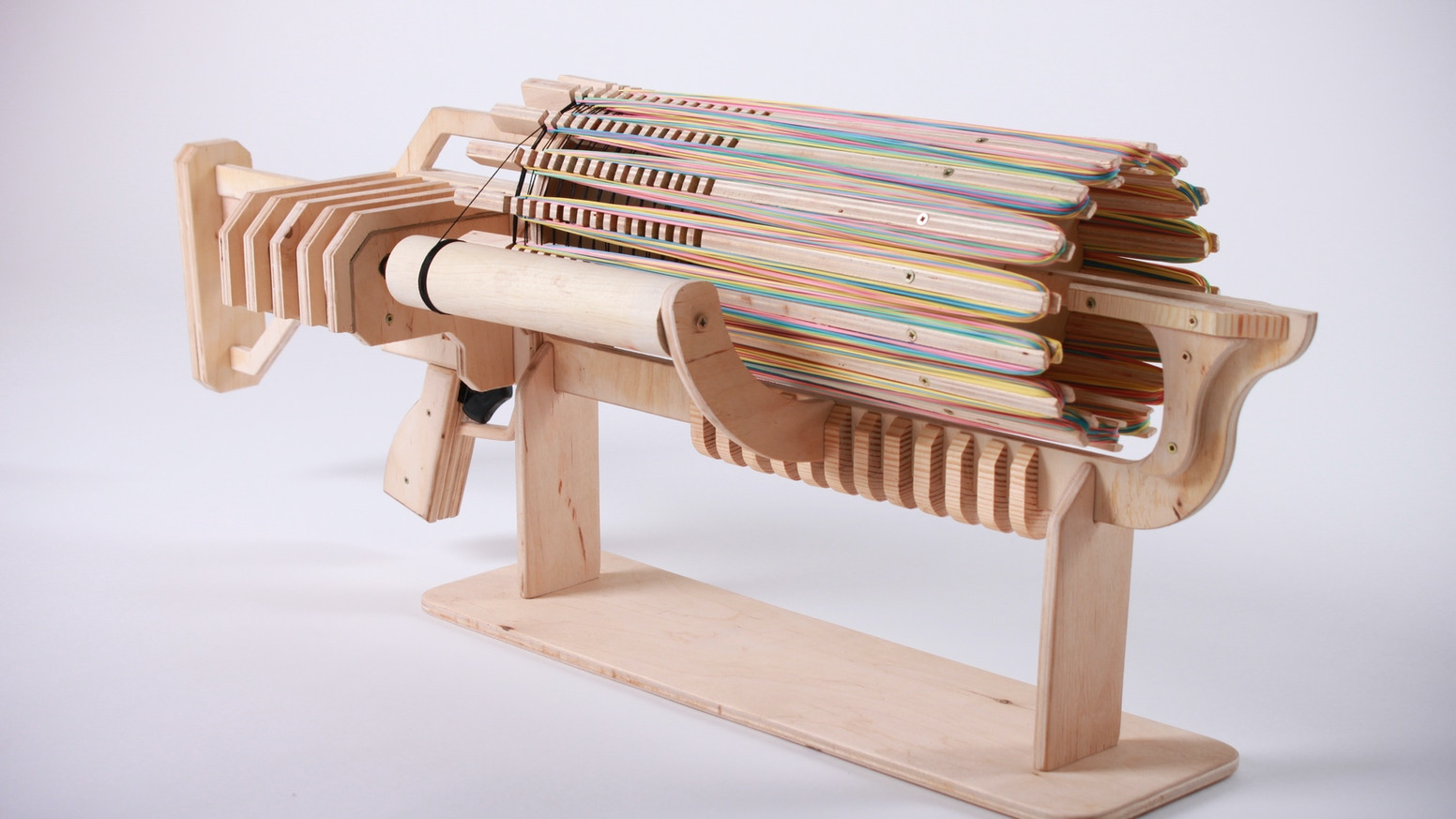 Rubber band machine gun with unique fast charger by alex shpetniy shoot fast charge fast huge ammunition and destructive force rubber band apocalypse is malvernweather Image collections