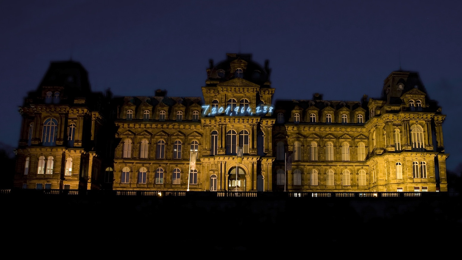 The Bowes Museum Installs Neon Art On Its French Façade