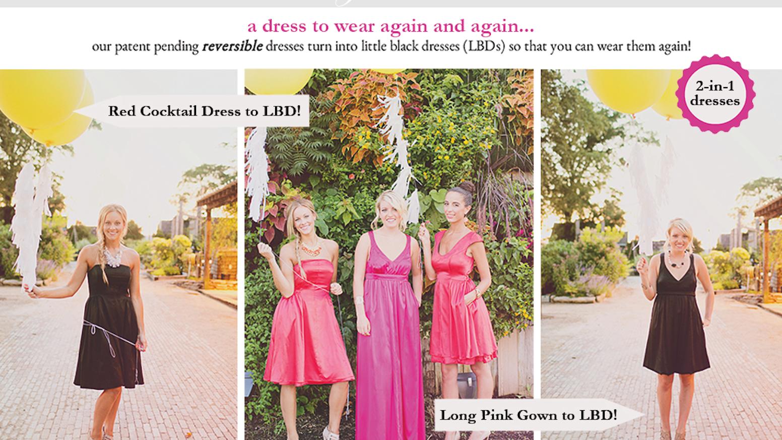 Durga kali reversible bridesmaid dresses by durga mccurdy durga kali reversible bridesmaid dresses ombrellifo Images