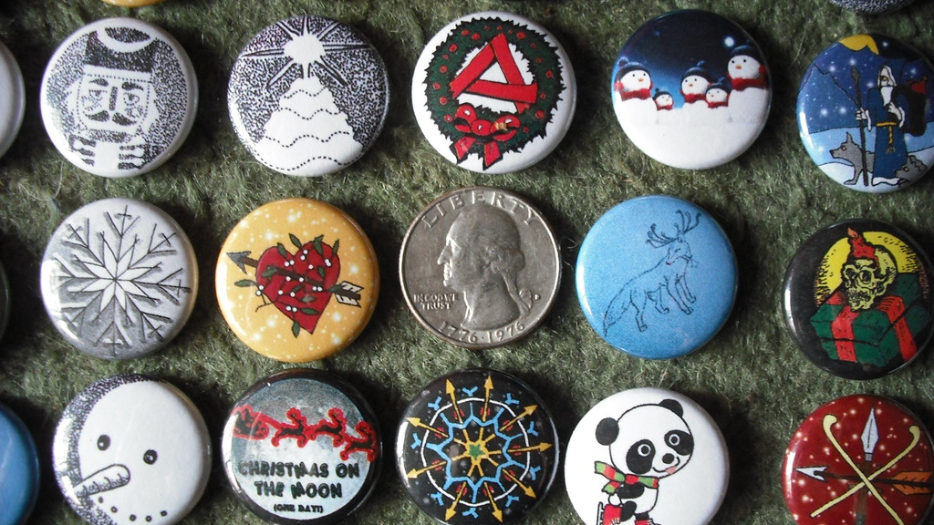 Christmas Buttons & Magnets project video thumbnail
