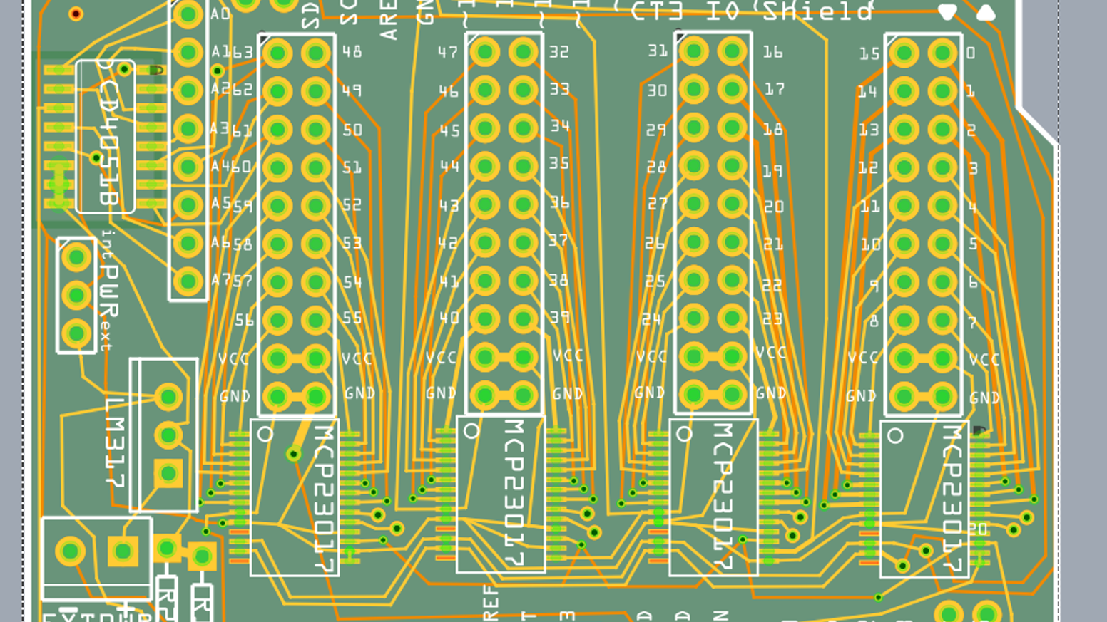 64 I/O Arduino Shield by mantas jurkuvenas » Check out my