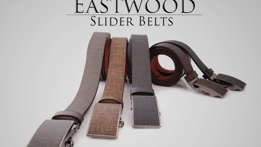 Eastwood Slider Belts: Maximum Comfort and Style project video thumbnail